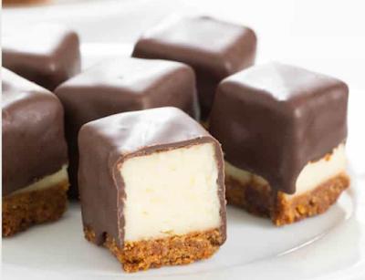 Cheesecake Bites #chocolate
