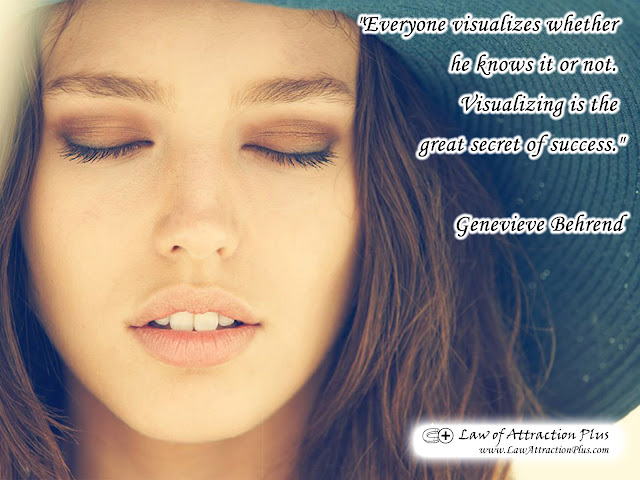 Free Law of Attraction Wallpaper with Quote by Genevieve Behrend