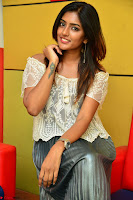 Eesha in a cute deep neck top and Skirt at at Big FM 007.JPG