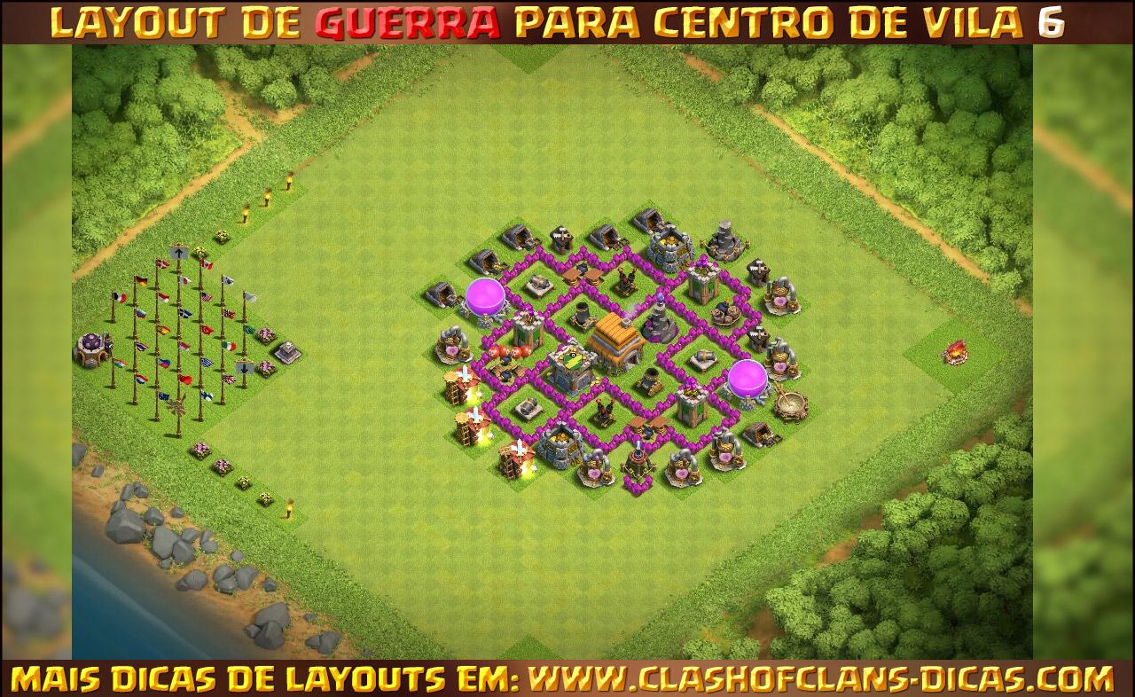 layouts para centro de vila 6 em guerra