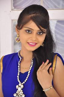 Actress Harisha Krishna Stills in Beautiful Blue Chudiddar  0002.jpg