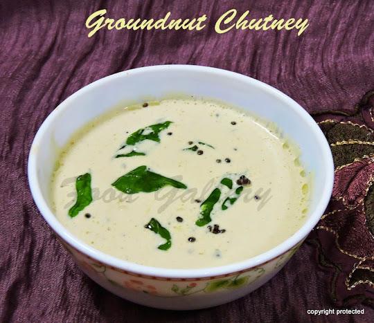 Groundnut Chutney, Peanut Chutney
