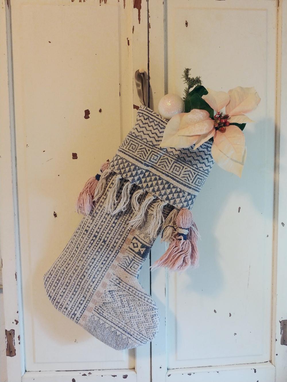 boho stocking
