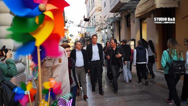 Επίσκεψη του υποψήφιου ευρωβουλευτή Νίκου Παπανδρέου στο Ναύπλιο (βίντεο)