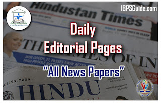 Editorial Pages From All News Papers
