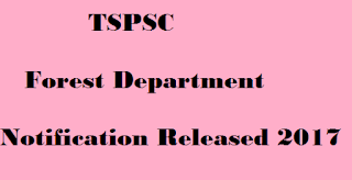 tspsc forest notification 2017
