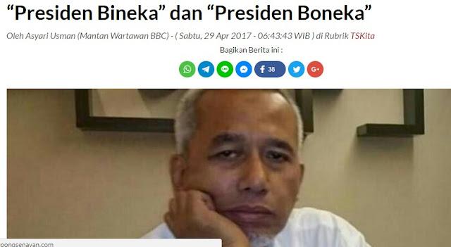 Ex Jurnalis BBC: Pak Jokowi, Presiden Bhinneka atau Presiden Boneka?