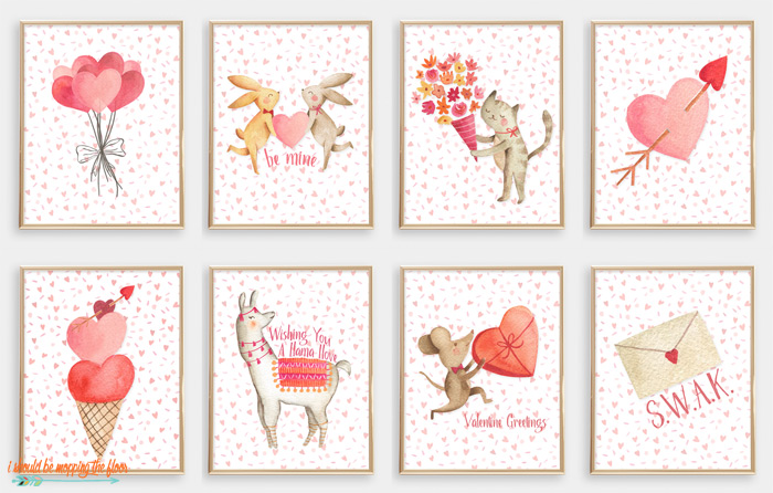 Animal Valentine Printables