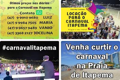 Aluguel de casas para o carnaval em Itapema