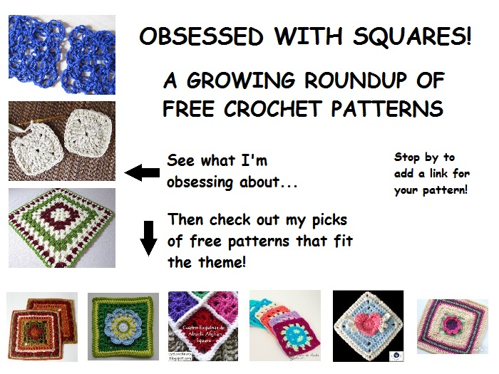roundup, crochet, squares, free crochet patterns