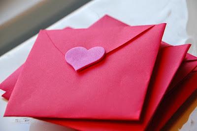 sevgiliye mektup zarfı