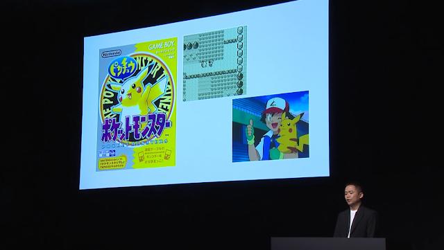 Junichi Masuda Pokémon Company presentation 2018 Yellow Ash Ketchum anime inspiration Let's Go Pikachu