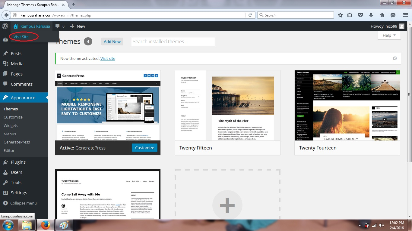 tutorial, cara, wordpress