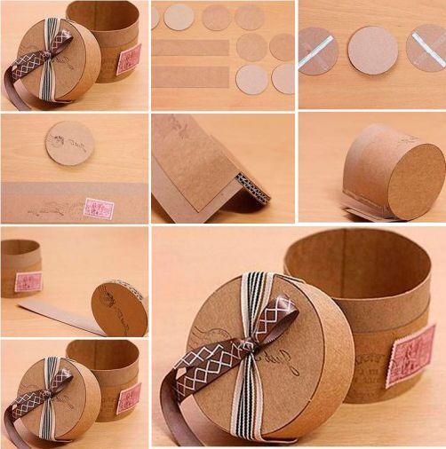 Kotak kado bentuk silinder lucu