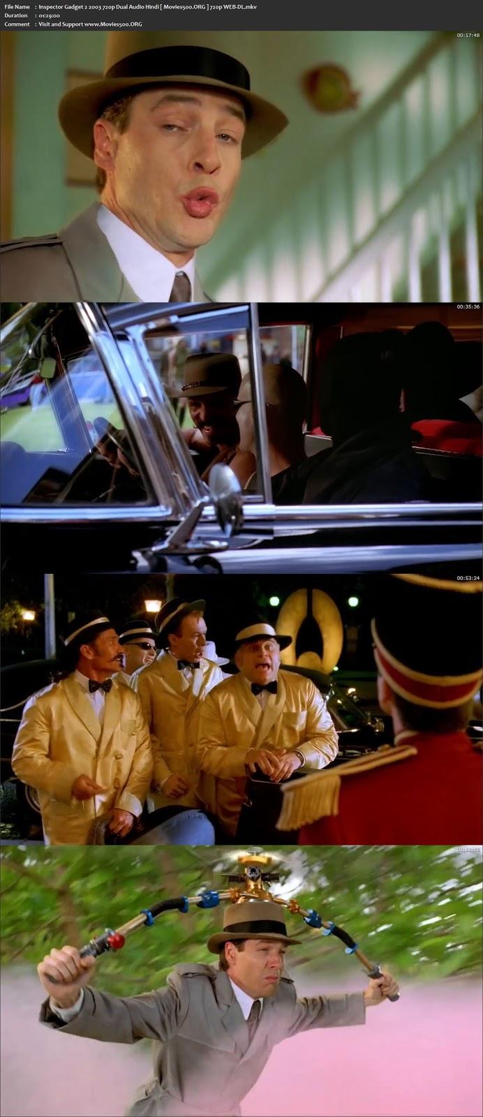 Inspector Gadget 2 (2003) Dual Audio Hindi WEB DL 720P ESubs at movies500.me