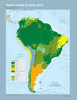 Apoyo Primaria Atlas de Geografía del Mundo 5to. Grado Capítulo 2 Lección 4 Regiones Naturales de América del Sur