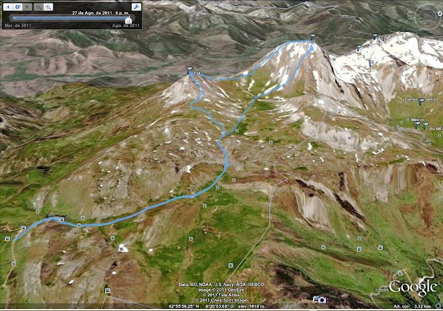 Rutas Montaña Asturias: Mapa de la ruta a Peña Ubiña