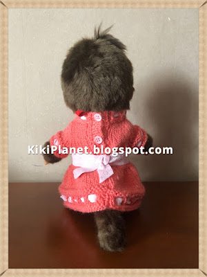 kiki monchhichi tricot vêtement poupée robe handmade, fait main, knitting