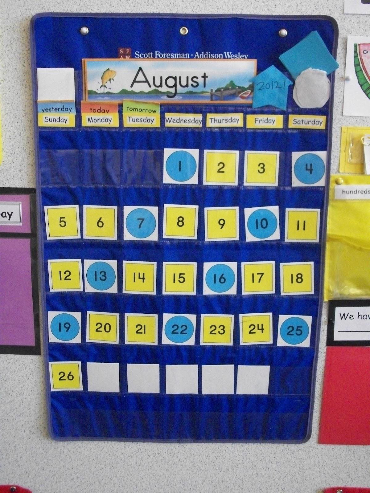 Miss Van Maren S Fantastic First Grade My Calendar