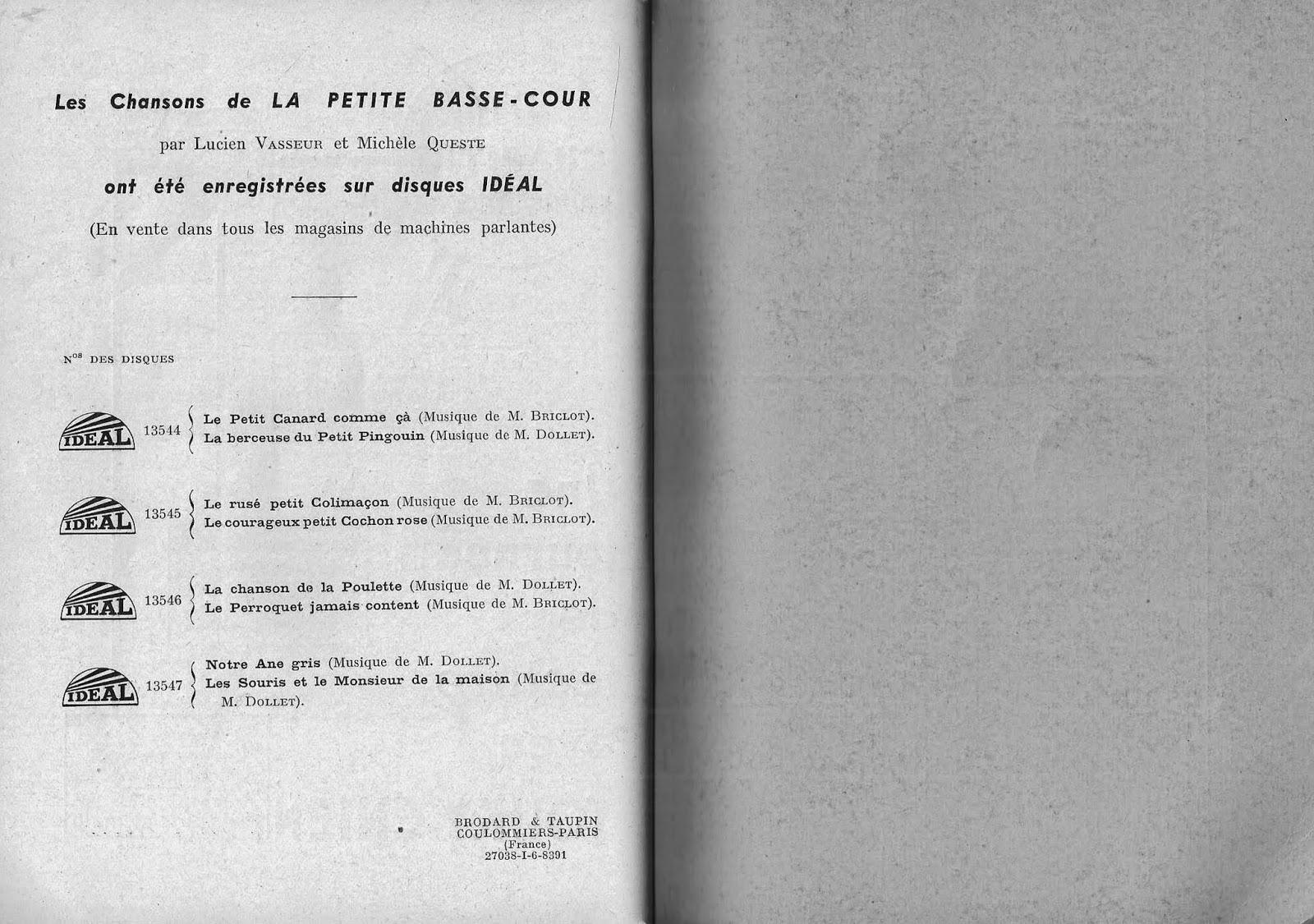 manuels anciens vasseur queste la petite basse cour cp compl ments p dagogiques 1938. Black Bedroom Furniture Sets. Home Design Ideas