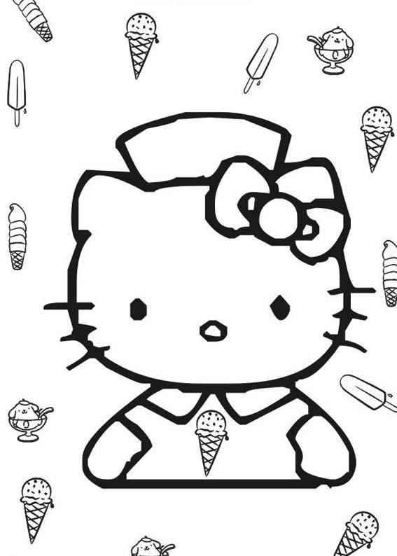 Explosao De Fofura Hello Kitty Desenhos Preto E Branco Para Colorir