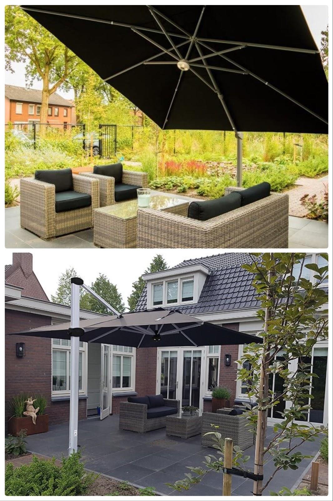 Sonnenschutz für Terrasse Balkon und Garten mit Solero Ampelschirm Sonnenschirm