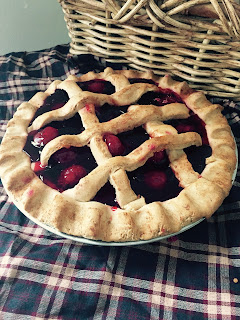 Fake Cherry Pie Farmhouse Decor