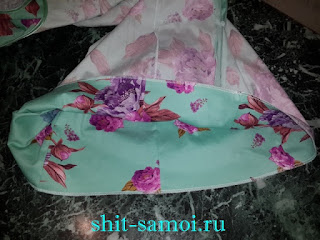 Обработка низа платья на оверлоке