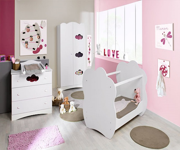 modele chambre de bebe fille avec des id es int ressantes pour la conception de. Black Bedroom Furniture Sets. Home Design Ideas