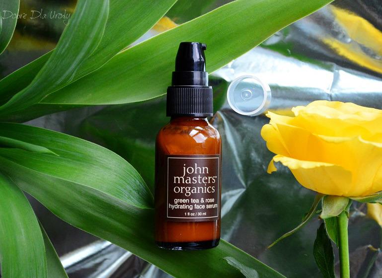 John Masters Organics Serum do twarzy z zieloną herbatą i różą - moc nawodnienia
