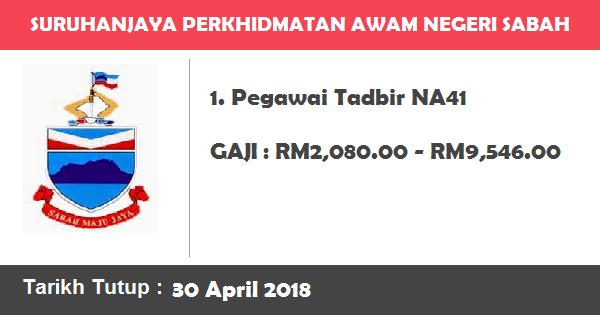 Jawatan Kosong di Suruhanjaya Perkhidmatan Awam Negeri Sabah