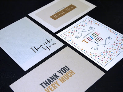 Thank you cards to match the range of greetings