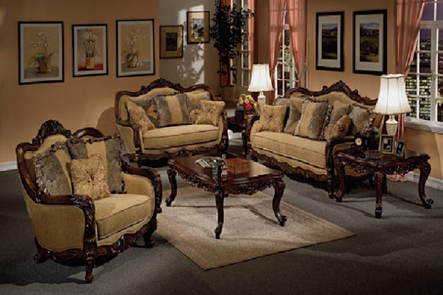 Traditional formal living room furniture sets home for Traditional living room sets