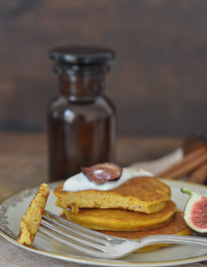 gluten free Pumpkin-Pancakes, the perfect idea for lazy Sunday mornings