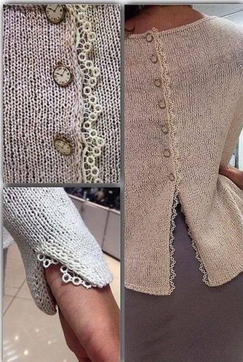 zdobienie sweterka