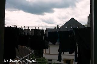 Fil à linge vêtements