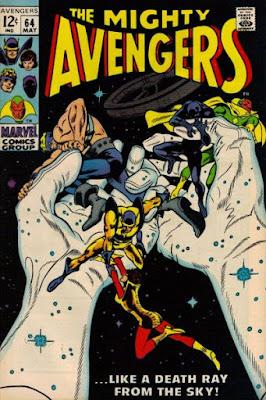 Avengers #64, giant hands
