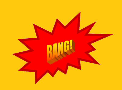 A red explosion graphic with the word Bang in gold across its center.