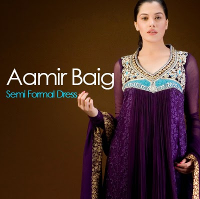 Aamir Baig Semi Formal Dress Collection 2014 Frocks And Gowns She9 Change The Life Style