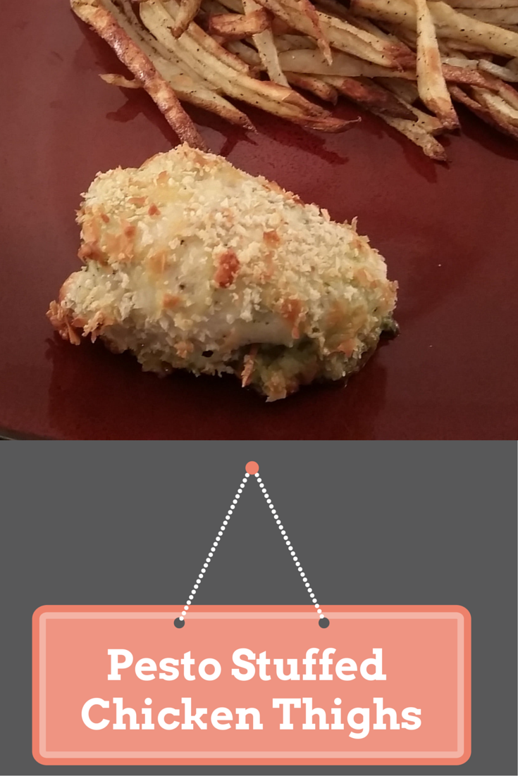 Pesto Stuffed Chicken Thighs. Click for recipe. Married and Hungry