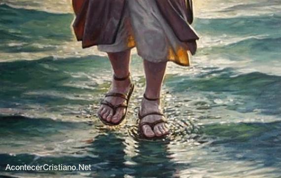 Imagen de Jesús caminando sobre el agua