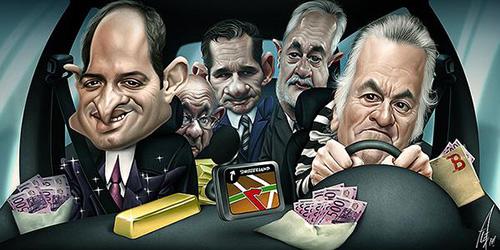 """Caricaturas de """"Luis Bárcenas"""", """"Iñaki Urdangarín"""", Francisco Camps"""", """"Jose Antonio Griñan"""" y otro más por Alex Gallego"""