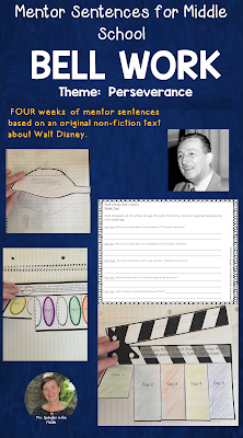 Here's a Month of perseverance themed bellringers all based on an original non-fiction text about Walt Disney. Supporting growth mindset, the topic of perseverance is perfect for the beginning of the year!