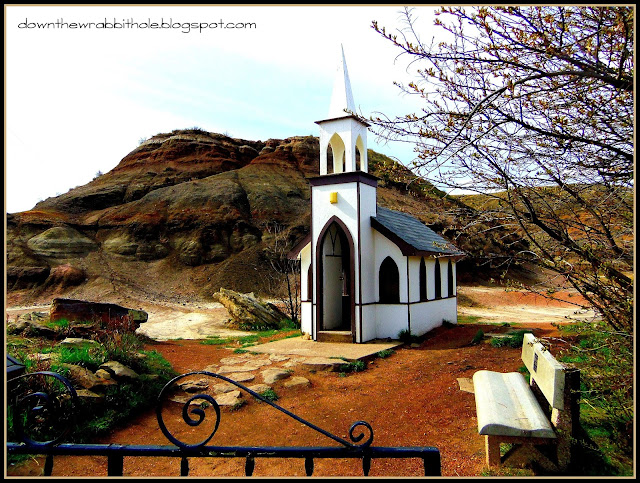 Drumheller's Little Church as seen from the road