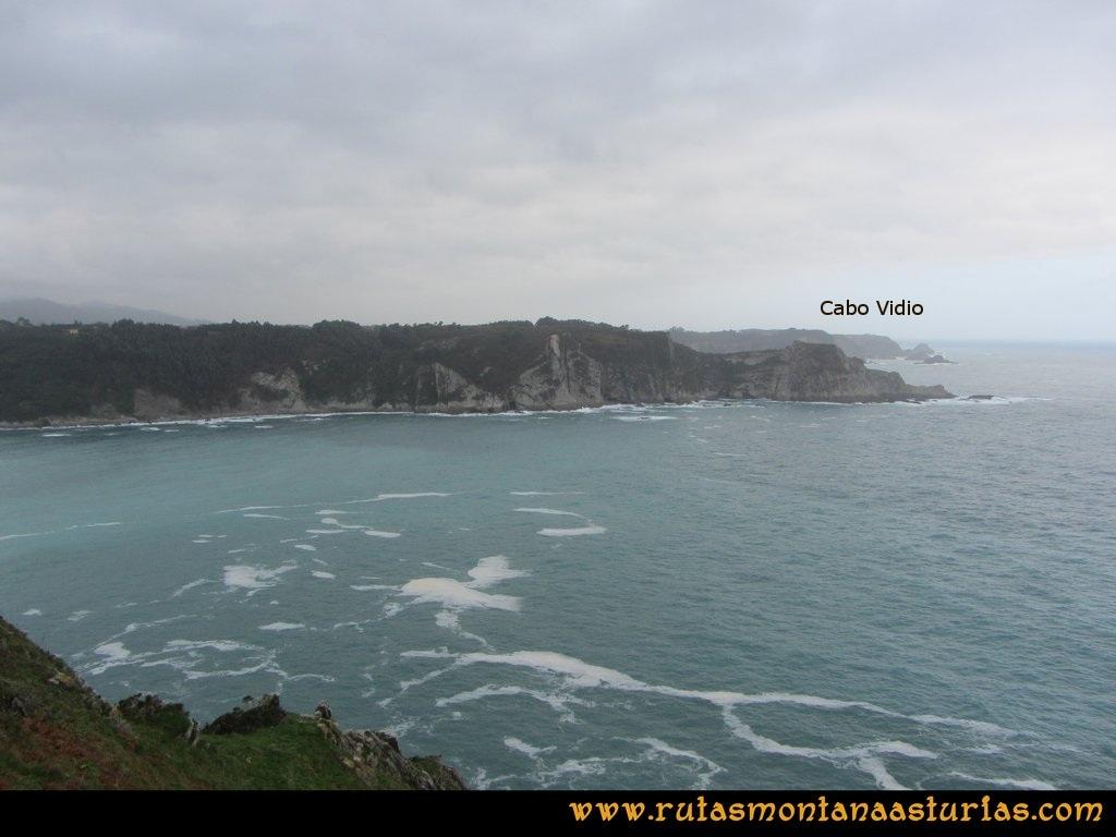 Ruta Artedo, Lamuño, Valsera: Cabo Vidio desde Cabo Lamuño