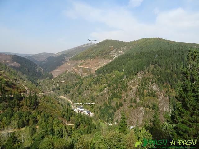 Ruta Pomar de las Montañas: Vista de Cazarnosa