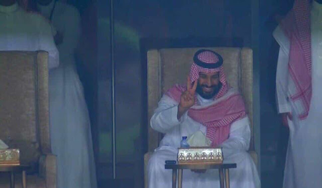 SAUDI CROWN PRINCE ON SAUDI SPOT IN WORLD CUP 2018