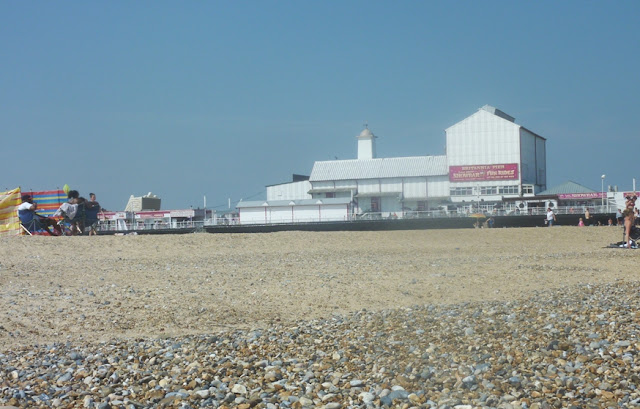 A view of the pier at Great Yarmouth beach