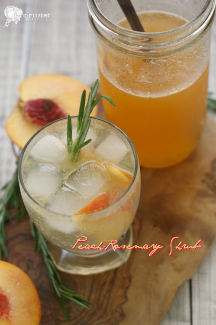 Peach-Rosemary Shrub Syrup
