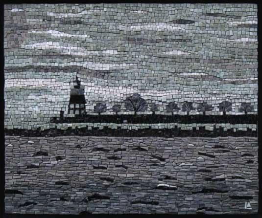 Navy Pier, desain mosaik paling bagus, desain mosaik pemandangan laut, desain mosaik unik